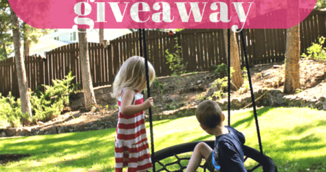 Instagram Giveaway, swing and spin backyard swing