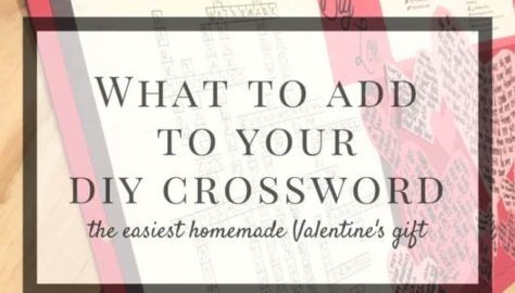 how to make a custom crossword valentine gift