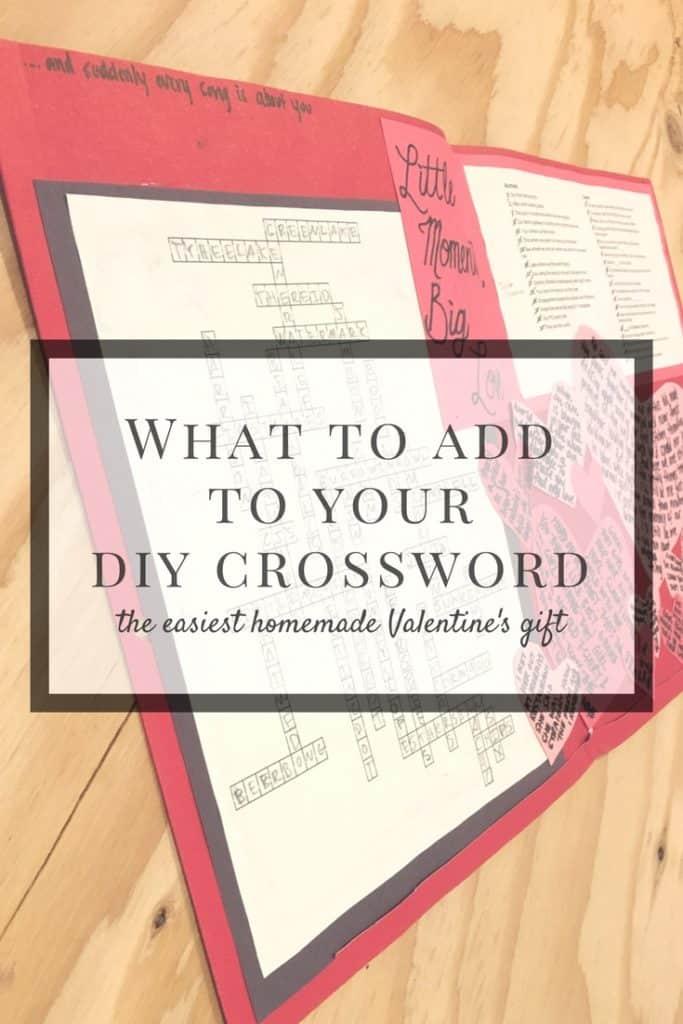 how to make a custom crossword valentine gift