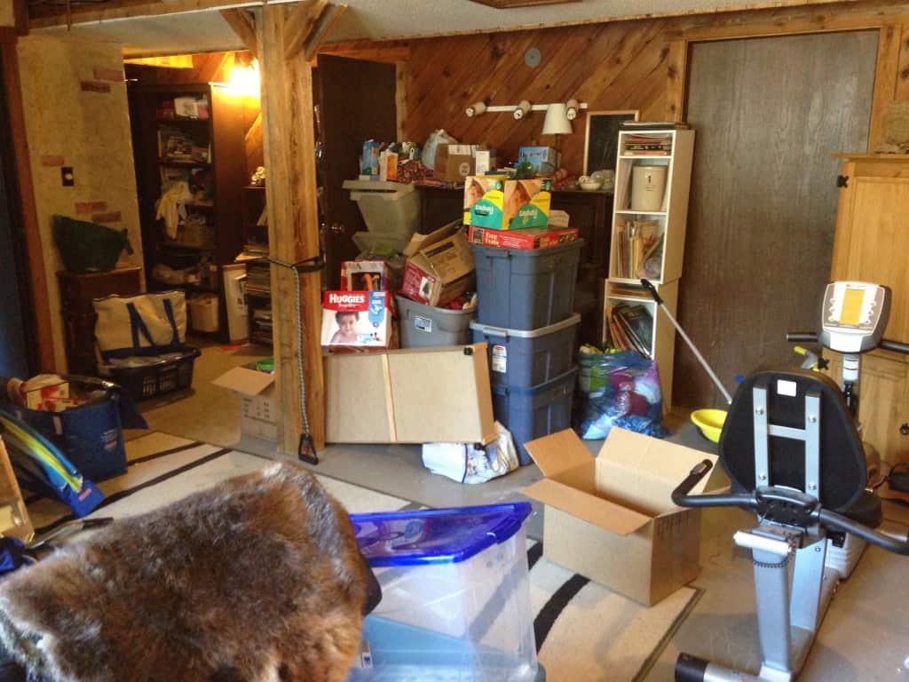 clutter basement declutter home