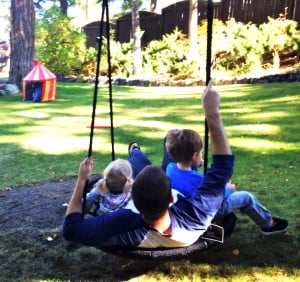 backyard swing, family