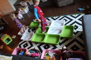 purging kids toys, simple on purpose