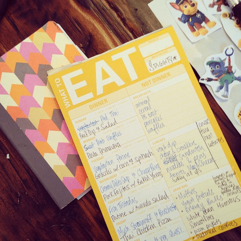 meal planning, simple on purpose