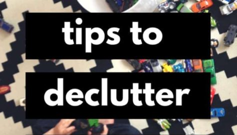 declutter kid toys tips