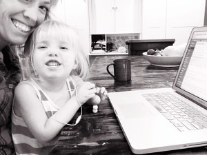 work at home mom life