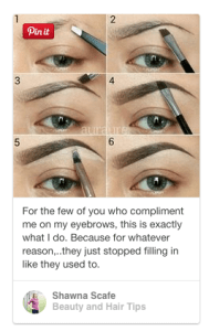 how to fill in eyebrows pinterest
