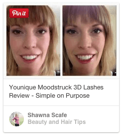 before and after younique 3d fibre lashes mascara