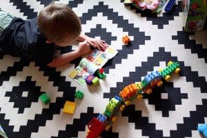 levi reading lego instructions