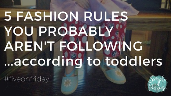 five fashion rules you probably arent following