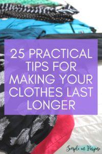 make clothes last longer tips