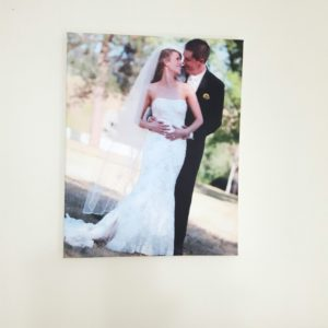 the anniversary photo canvas that tells a story of our ups and downs.
