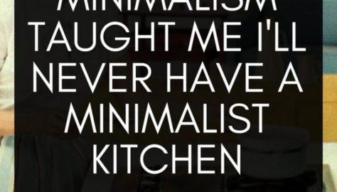 minimalist family kitchen