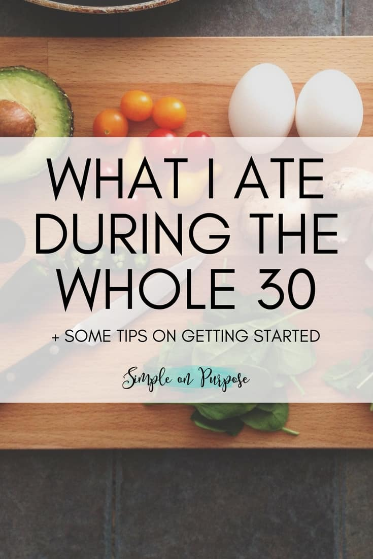 meal list for the whole 30 month