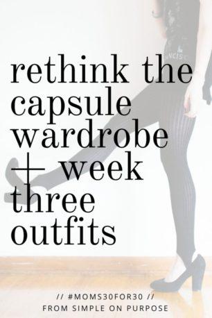 rethink capsule wardrobes