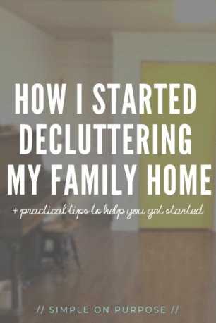 How i started decluttering my family home and tips