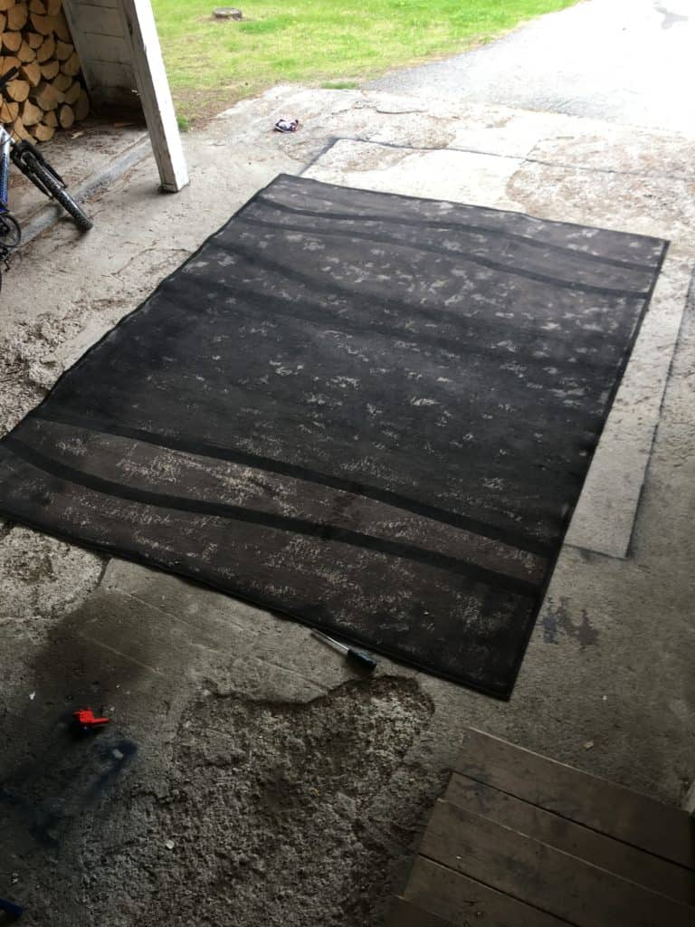 ugly painted rug