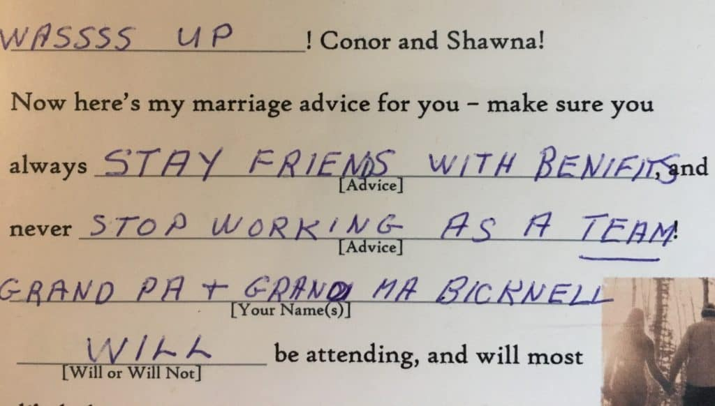 advice from my grandparents on married life