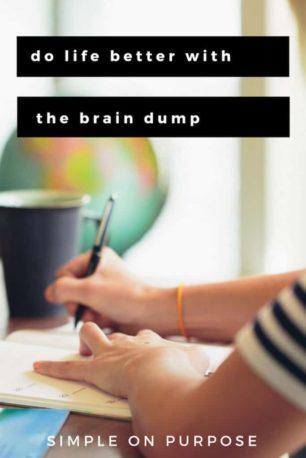 brain dump life hack