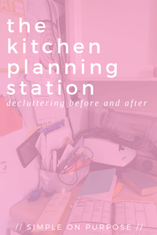 kitchen declutter before and after planning station