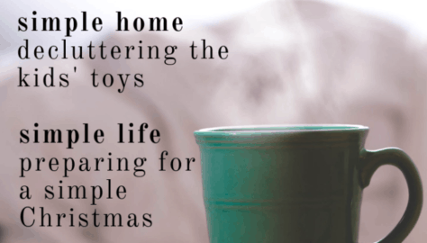 Simple saturdays 4. decluttering kids toys, preparing for simple christmas, easy recipes for a crowd (1)