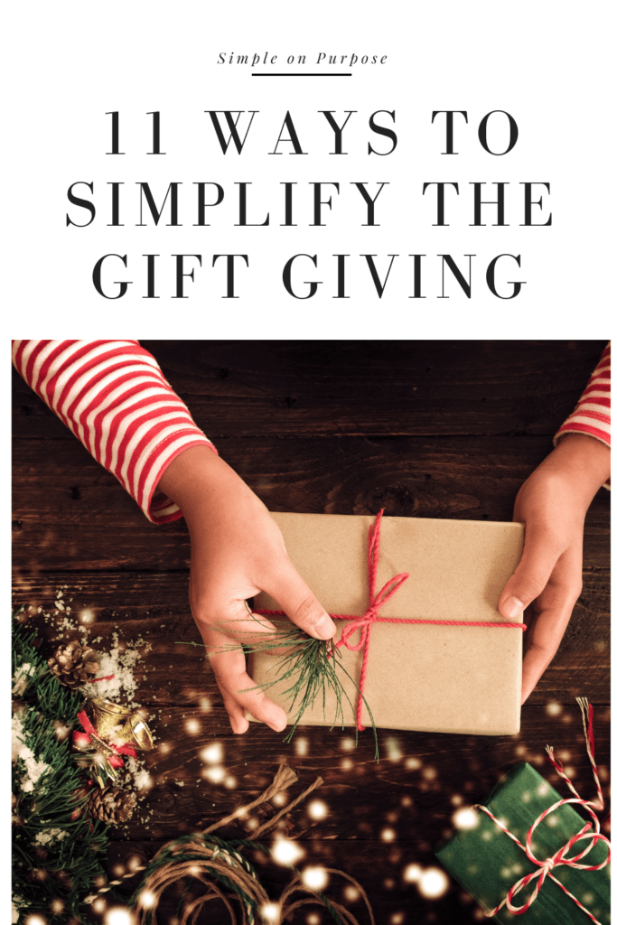 11 ways to simplify the gift giving
