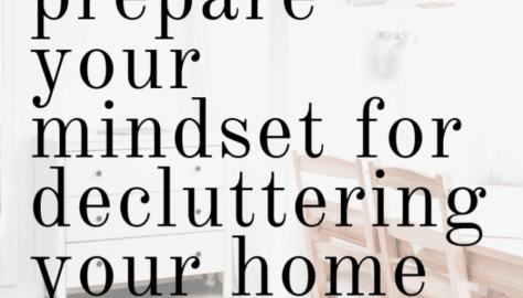 decluttering mindset motivation