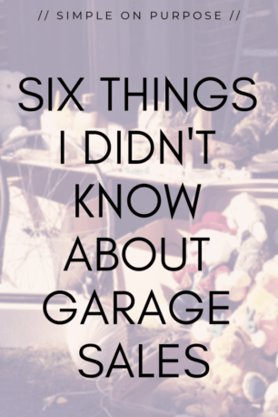 what to know about garage sales declutter