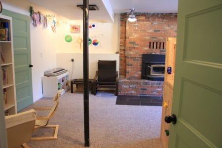 decluttered playroom for kids
