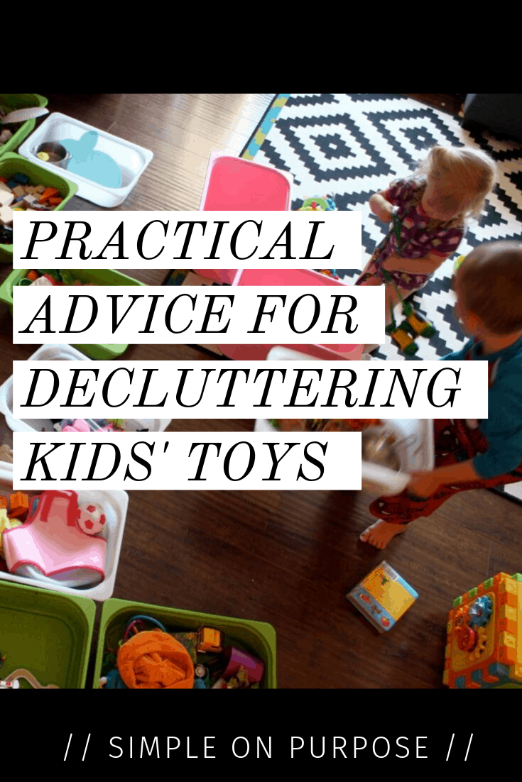 advice decluttering kids toys