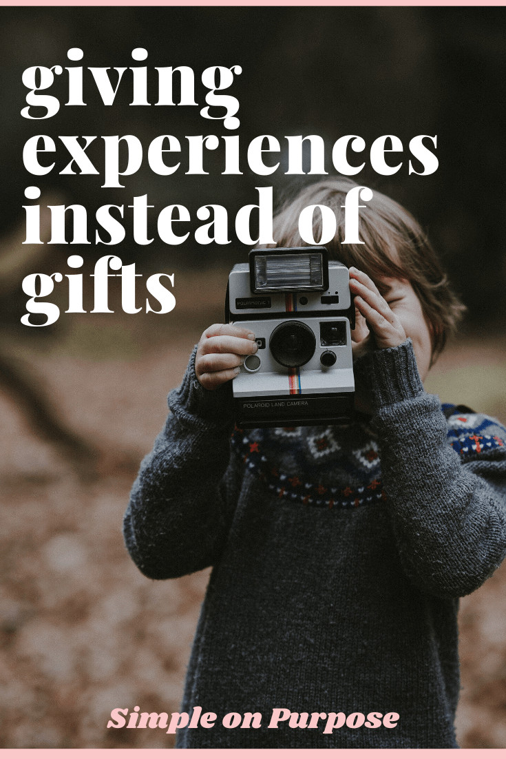boy with camera to experience instead of another gift
