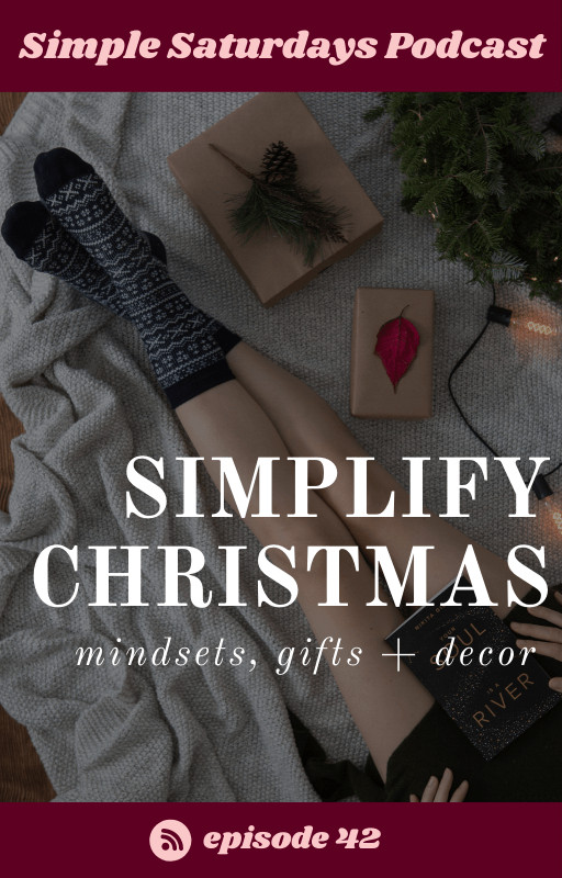 simplify gifts and decor, christmas mindsets
