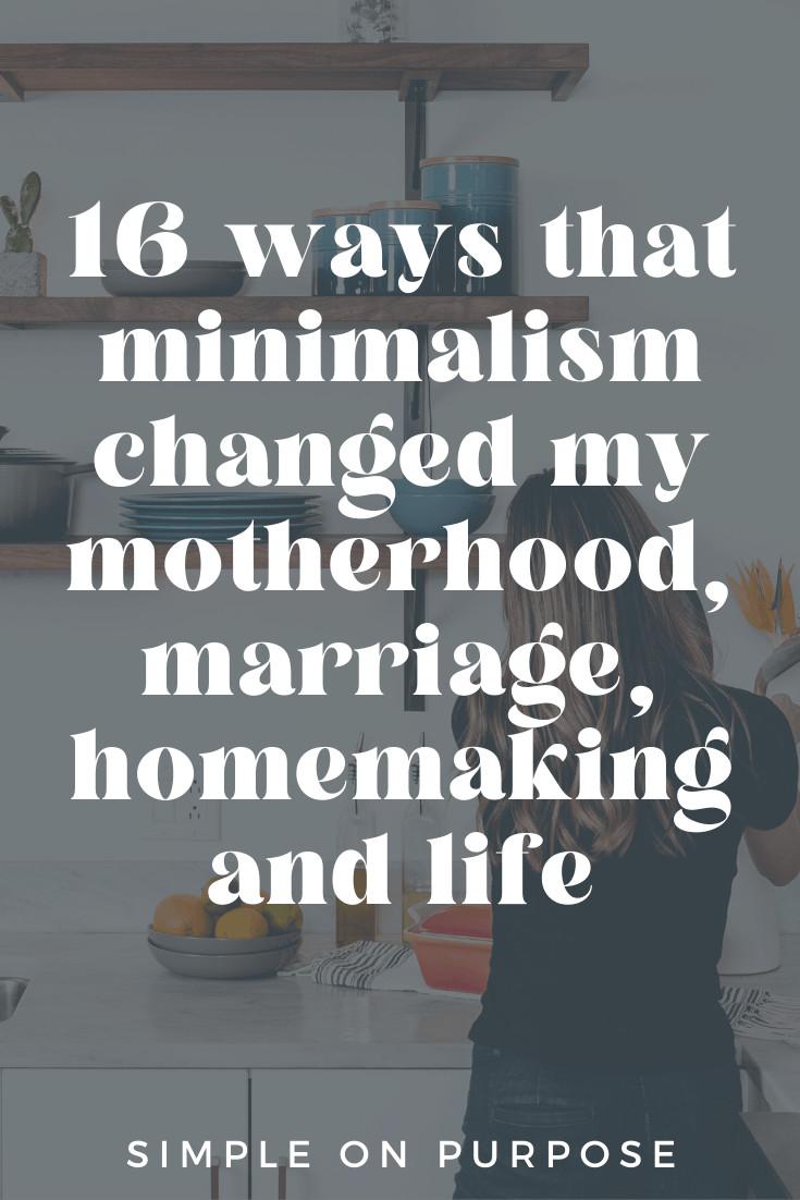 mom in minimalist kitchen