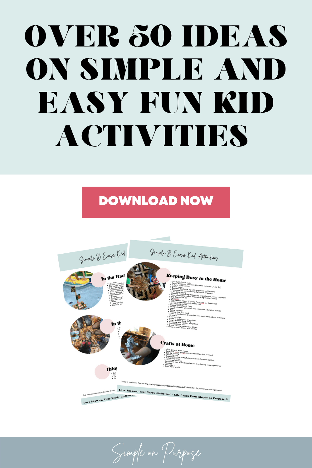 over 50 ideas to keep kids busy