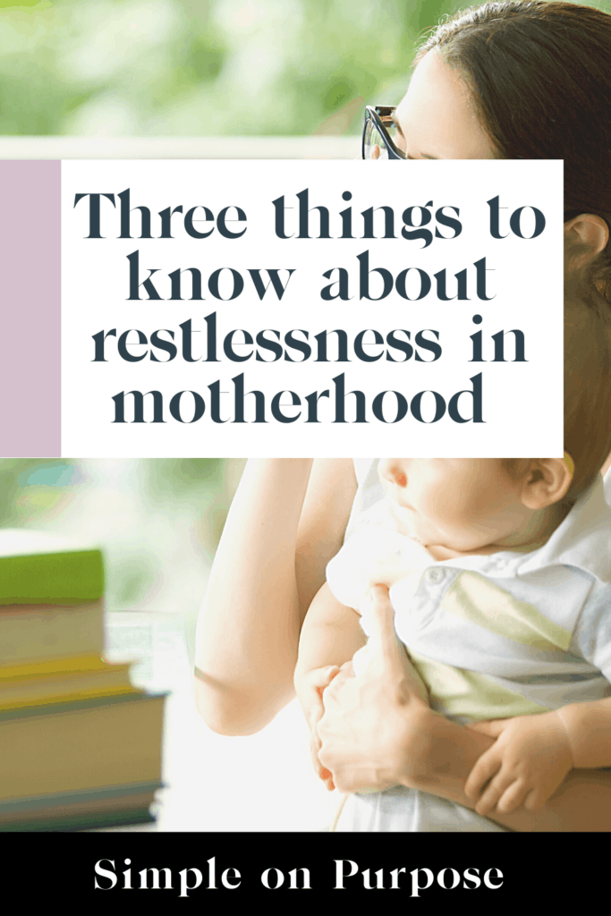 Life coach advice for restless mums