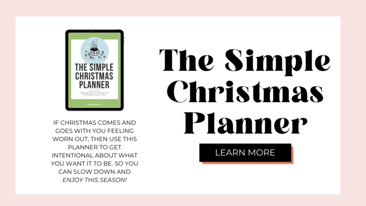 The Simple Christmas Planner