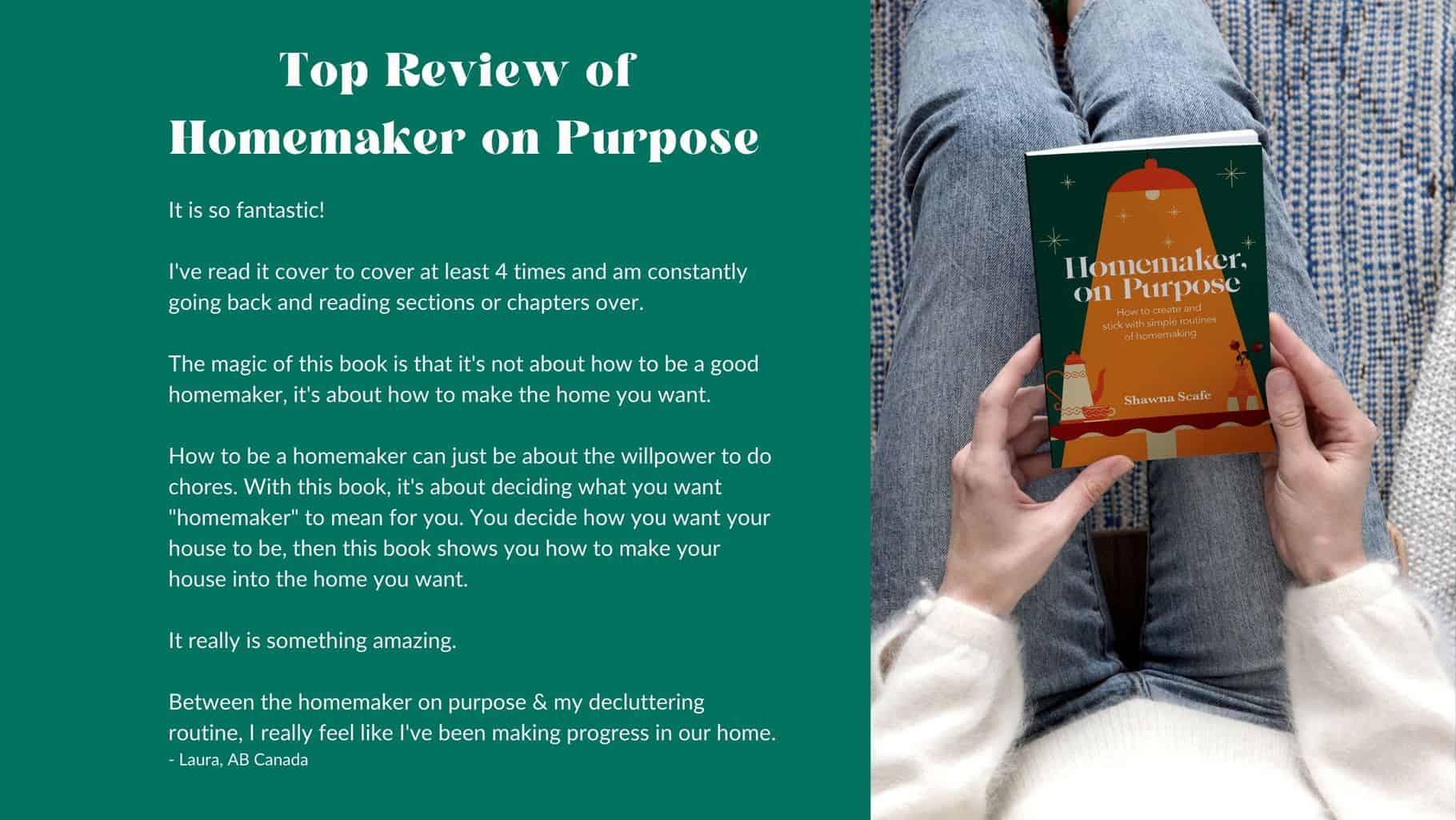 customer review of Homemaker on Purpose